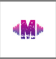 initials logo m musical template vector image