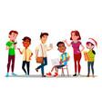 international character adolescent set vector image vector image