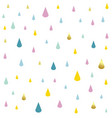 kids pattern rain drops vector image