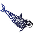 killer whale fish animal cartoon vector image vector image