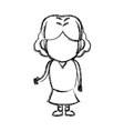 little girl child standing person character vector image vector image