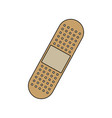 medical plaster icon bandaid element first aid kit vector image vector image