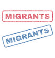 migrants textile stamps vector image vector image