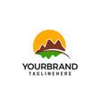 mountain hills logo design concept template vector image
