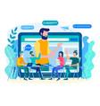 online coaching online training web vector image vector image