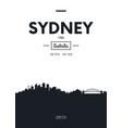 poster city skyline sydney flat style vector image