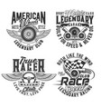 races club t-shirt prints speed wheel and wings vector image
