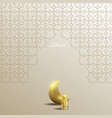 ramadan kareem islamic geometry background vector image