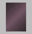 Retro halftone square pattern background brochure vector image