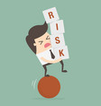 risk vector image vector image