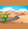 road trip in the desert vector image vector image