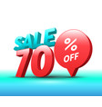 sale banner 3d style vector image vector image