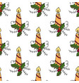seamless pattern with christmas vector image