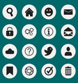 set of 16 editable network icons includes symbols vector image vector image