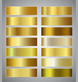 set of gold gradient banners templates or website vector image