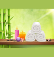 spa realistic background vector image vector image