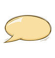 speech bubble beige doodle vector image vector image
