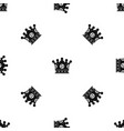 spica pattern seamless black vector image vector image