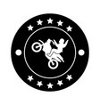 sport motorcycle seal stamp vector image