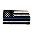 state kansas police support flag vector image vector image