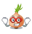 super hero character fresh vegetable onion in the vector image