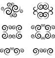 swirl symbol vector image
