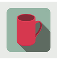 Tea mug flat icon vector image vector image