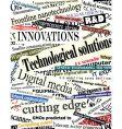 technology headlines vector image vector image