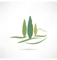 trees growing in a field icon vector image vector image