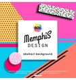 Trendy memphis cards design 1980s background vector image