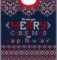ugly sweater christmas party greeting card vector image