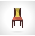 Furniture for restaurant flat color icon vector image