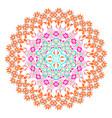 colorful mosaic mandala vector image