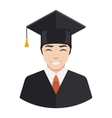 Smiling graduate student vector image