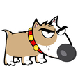 Angry Brown Dog Bull Terrier vector image