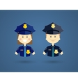 Professions - Police officers vector image