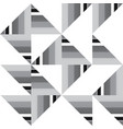 abstract black and white truchet geometric vector image