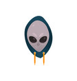 alien face extraterrestrial creature icon vector image