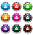 alien spaceship set 9 collection vector image
