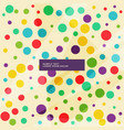 amazing background of colorful circles in vector image vector image