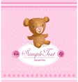 Baby arrival card for baby girl vector image