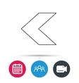 Back arrow icon Previous sign vector image vector image