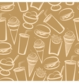 background with fast food seamless pattern vector image vector image