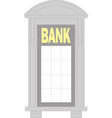 bank building isolated on white background vector image