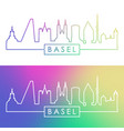 basel skyline colorful linear style editable vector image vector image