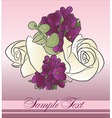 beautiful bouquet vector image vector image