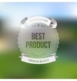 Best product sticker isolated on blurred vector image