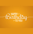 birthday banner logo design background vector image
