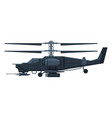 black military helicopter heavy special machinery vector image
