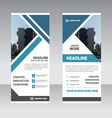 Blue triangle Business Roll Up Banner templates vector image vector image